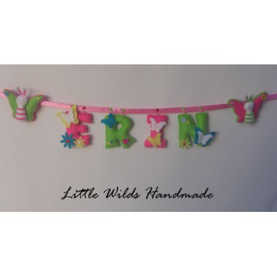 Name banner butterfly