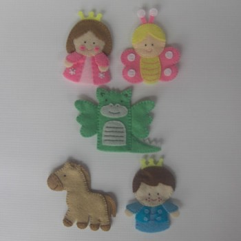 Magic kingdom finger puppets