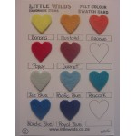 Swatch card colours